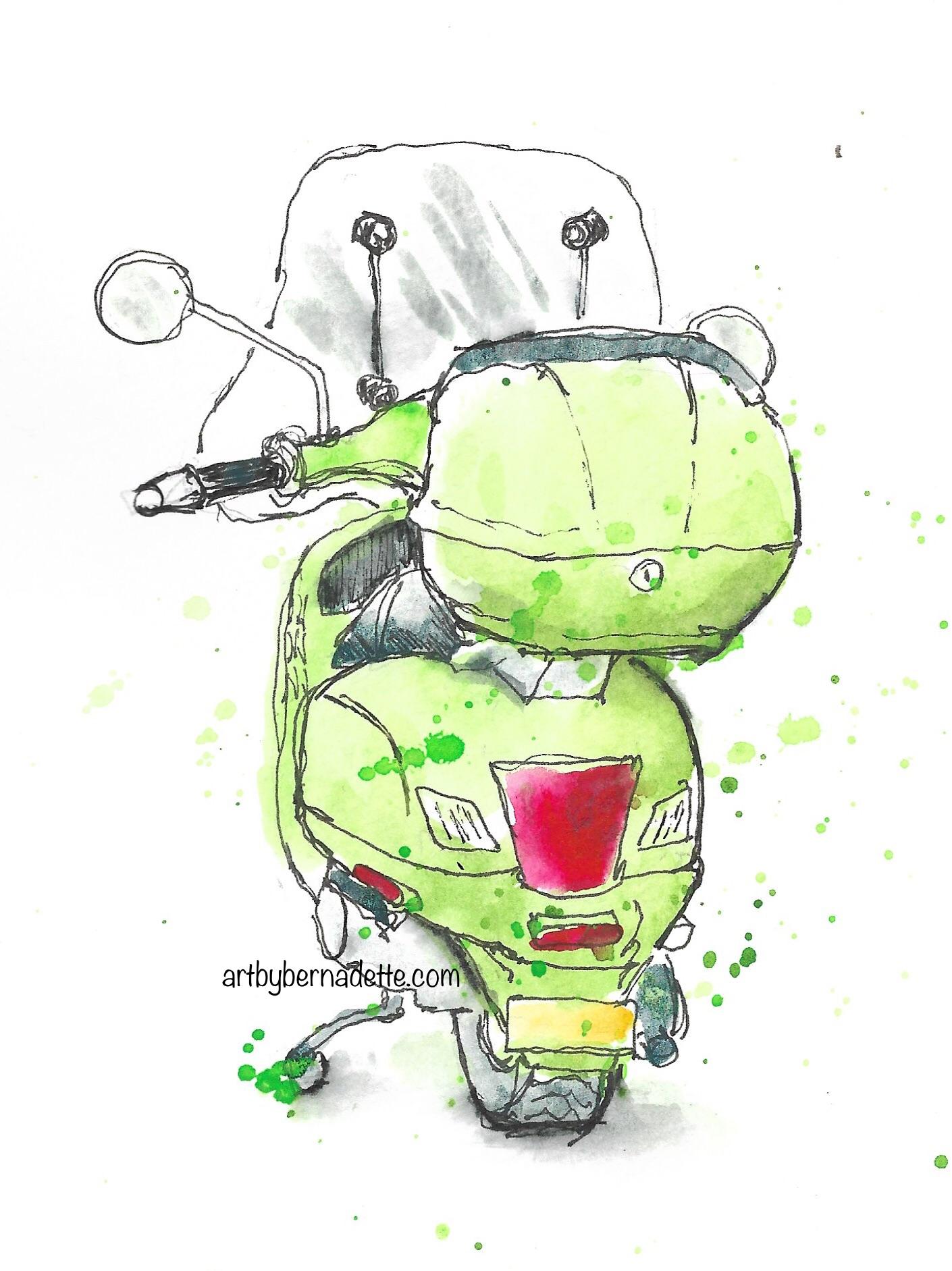 Vespa 200GT scooter