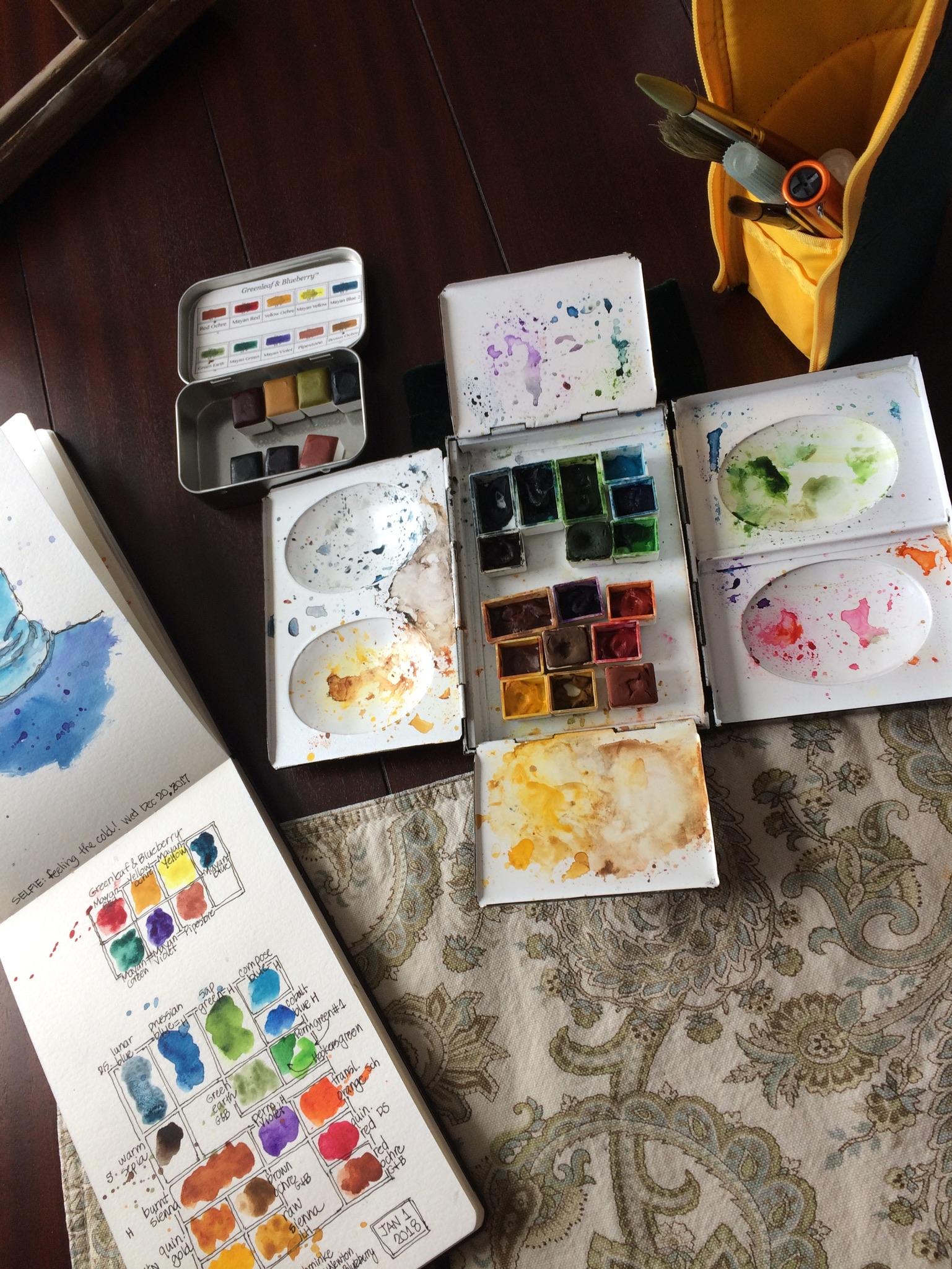 Watercolor palettes